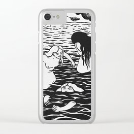 Three Bathers by Felix Vallotton, 1894 - Woodcut Clear iPhone Case