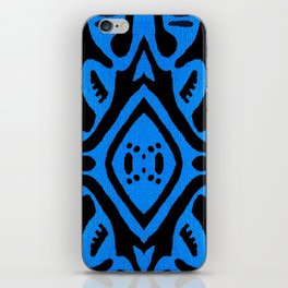 Blue pattern iPhone Skin