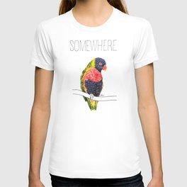 Somewhere Over The Rainbow (Rainbow Lorikeet) T-shirt