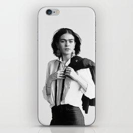 Frida Kahlo Wearing White Shirt iPhone Skin