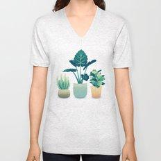 Potted Plants Unisex V-Neck