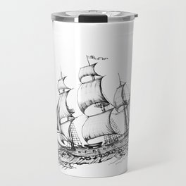 sailing ship . Home decor Graphicdesign Travel Mug