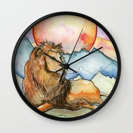 Leo Zodiac Wall Clock