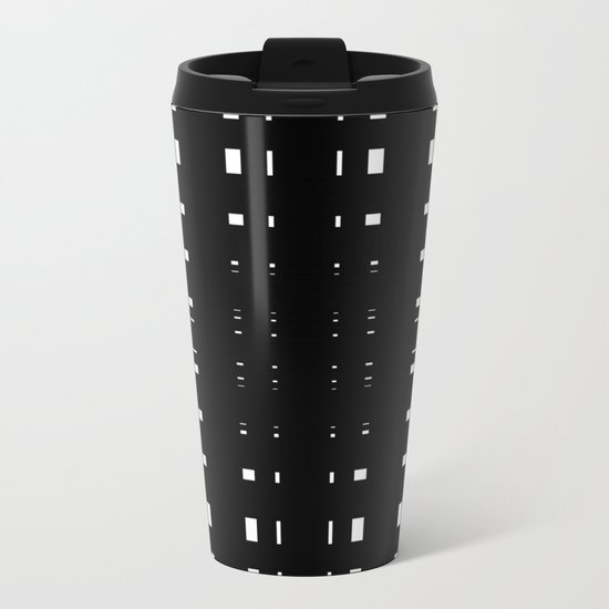Perceive Depth In Black And White Metal Travel Mug