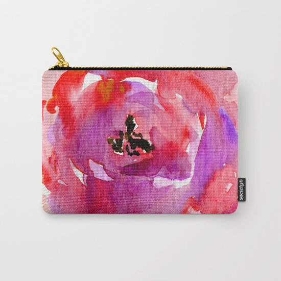 red pink flower Carry-All Pouch