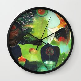 """Inner Whisper #1"" Original Painting by Flora Bowley Wall Clock"