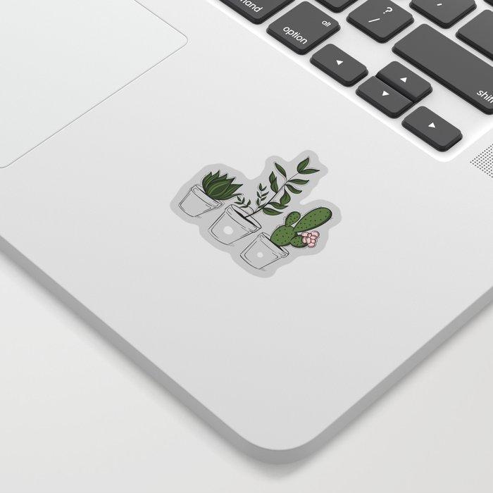 Three Little Succulents Sticker