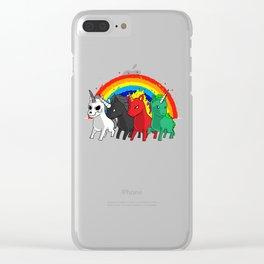 Unicorn Apocalypse Rider Rainbow joke gift Clear iPhone Case