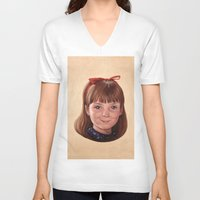 roald dahl V-neck T-shirts featuring Matilda by Shannon Forringer