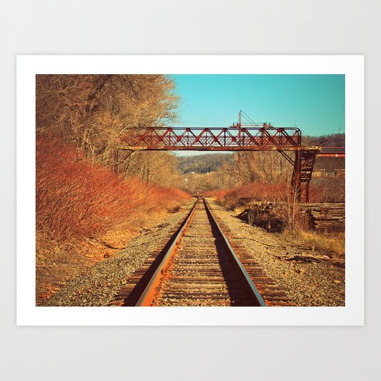 On The Right Track Art Print