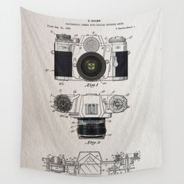 Camera patent 1962 Wall Tapestry