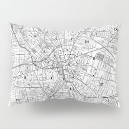 Vintage Map of Rochester NY (1901) BW Pillow Sham