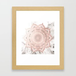Dreamer Mandal Rose Gold Framed Art Print