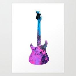 guitar art #guitar Art Print