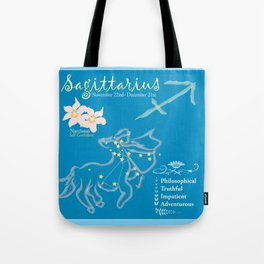 Sagittarius Horoscope Tote Bag