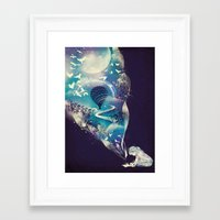 dreamer Framed Art Prints featuring Dream Big by dan elijah g. fajardo
