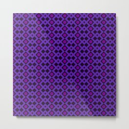 Geometric Design - Purple and Magenta - Diamonds Circles Squares Metal Print