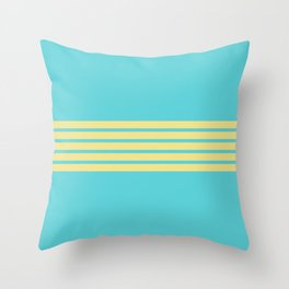 Yellow Rainbow Throw Pillow
