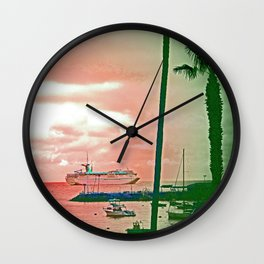 """""""Inspiration At Catalina"""" with poem: My Own Day Wall Clock"""