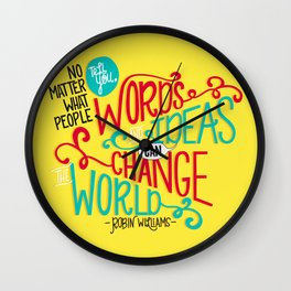 Words and Ideas Wall Clock