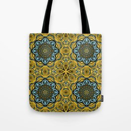 Gothic blue pattern Tote Bag