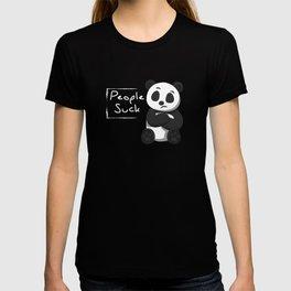 People Suck Funny Panda Bear Wildlife Introvert Anti Social Sleepy Lazy Animals Gift T-shirt