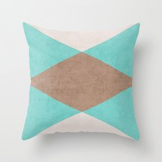 beach triangle Throw Pillow
