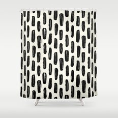 Switched Stitch Shower Curtain