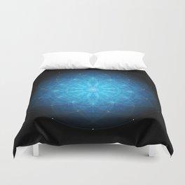 crystal mind. sacred geometry mandala Duvet Cover