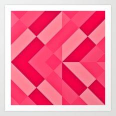 Shades of Pink abstract Art Print