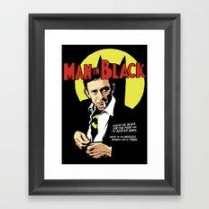 Man in Black Framed Art Print