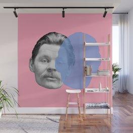 Maxim Gorky - pink blue portrait Wall Mural