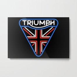 Triumph Neon Sign Metal Print