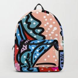 Pop Art Girl Portrait Backpack