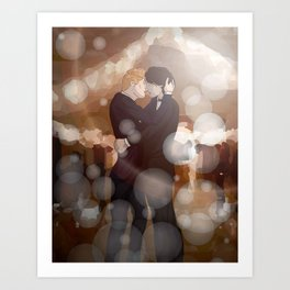 Dancing Snowbaz Art Print