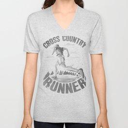 Running Addict Cross Country Runner Unisex V-Neck