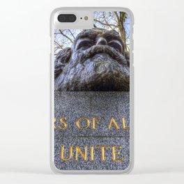 Karl Marx Memorial Clear iPhone Case