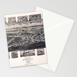 Bird's Eye View of Rising Sun, Maryland (1907) Stationery Cards