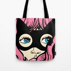 Catgirl Pop Art Tote Bag