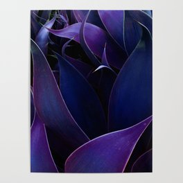 Deep Purple Abstract Leaves Poster