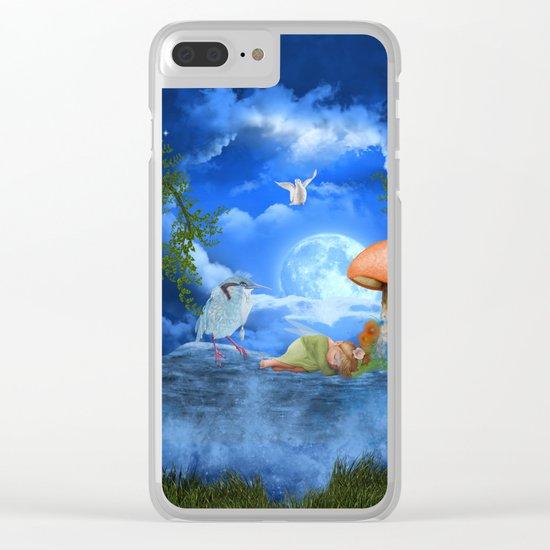Cute little fairy Clear iPhone Case