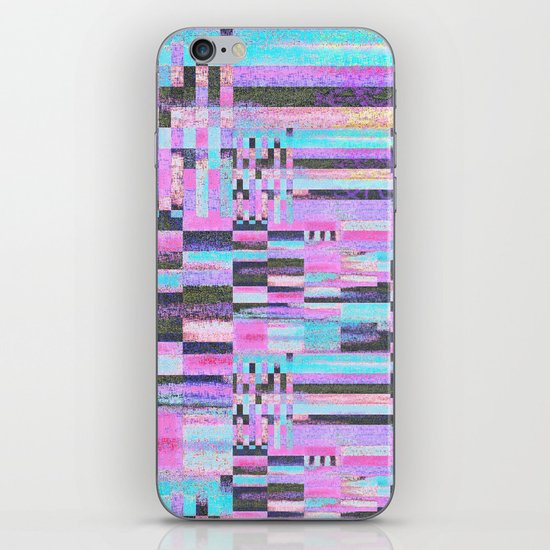 Pink lines of chalk iPhone & iPod Skin