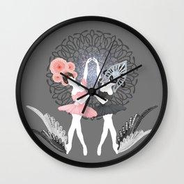 Swan Dive Wall Clock
