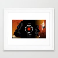 2001 a space odyssey Framed Art Prints featuring 2001 - A space odyssey by Martin Woutisseth