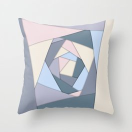 Geometric Layers of Color Throw Pillow