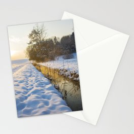 winter sunset Stationery Cards