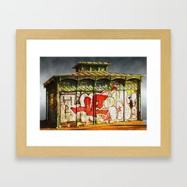 The Old Pissoir Block Framed Art Print