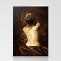 degas Stationery Cards featuring Juliette. Portrait. by Viviana Gonzalez
