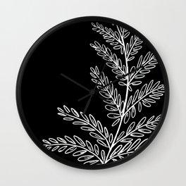 Fern Leaf (black) Wall Clock