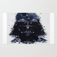 darth vader Area & Throw Rugs featuring Darth Vader by qualitypunk